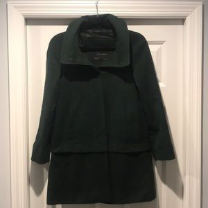Zara, Forest Green Pea Coat, XS